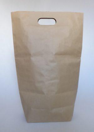 papírové pytle s odnosným výsekem